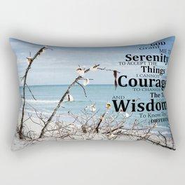 The Serenity Prayer - Beach Art - by Sharon Cummings Rectangular Pillow