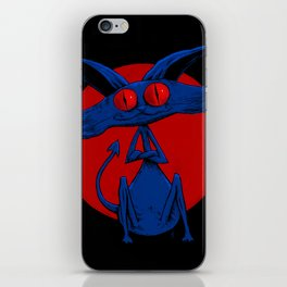 Evil Cat 001 iPhone Skin