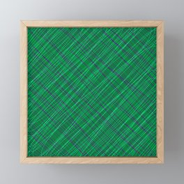 Wicker ornament of their blue threads and green intersecting fibers. Framed Mini Art Print