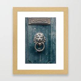 Vintage door knob Framed Art Print