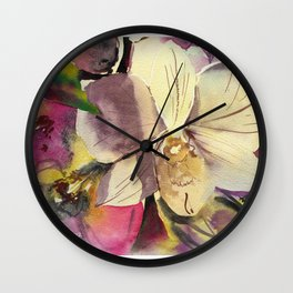 20120423 Orchid Wall Clock