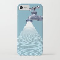 waterfall iPhone & iPod Cases featuring Waterfall by Shkvarok