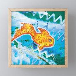 Golden fish 1 Framed Mini Art Print