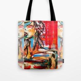 Wind Girl Tote Bag