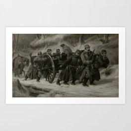Niels Simonsen, Retreat from Dannevirke, 1864, 1864 Art Print