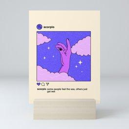 Scorpio Instagram Mini Art Print