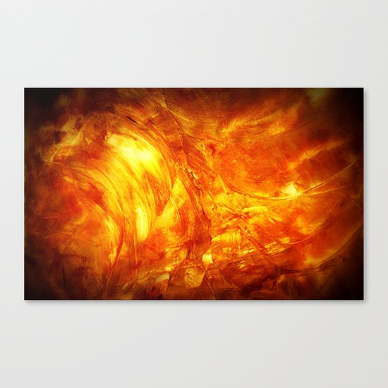 Surface Of The Sun - Leo - Science - Hipster - Hot Canvas Print