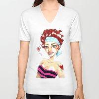 valentina V-neck T-shirts featuring Valentina by Lagoonartastic
