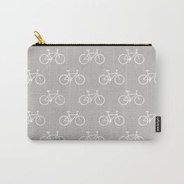 bicycles textured - gray Carry-All Pouch
