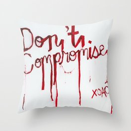 Don't Compromise, Silk Graffiti by Aubrie Costello Throw Pillow