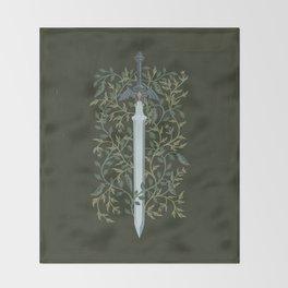 Sword of Time Throw Blanket