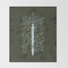 Sword of Time Throw Blanket