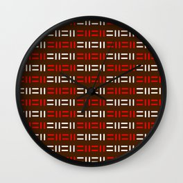 Pattern simple mazes Wall Clock