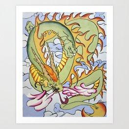 Cloud Drak Art Print