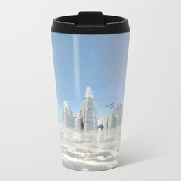City in the clouds (bright) Travel Mug