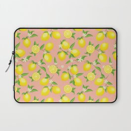 You're the Zest - Lemons on Pink Laptop Sleeve