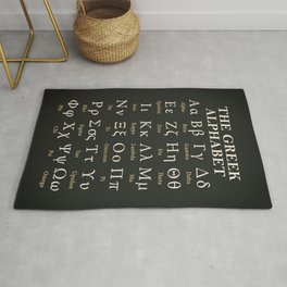 The Greek Alphabet Rug