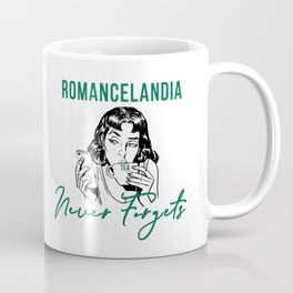 Romancelandia Never Forgets -- Green Coffee Mug