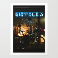bicycles Art Prints featuring Bicycles   by {she tells stories}