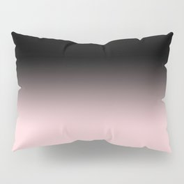 Modern abstract elegant black blush pink gradient pattern Pillow Sham