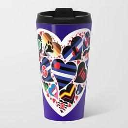 ALL PRIDE Heart / Fetish - Leather Community Travel Mug