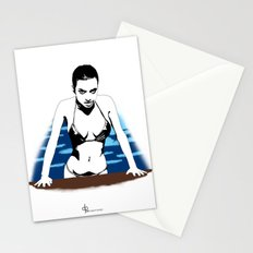 Out of the pool Stationery Cards