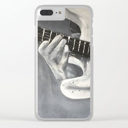 road warrior, stratocaster guitar Clear iPhone Case