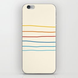 Abstract Retro Stripes #1 iPhone Skin