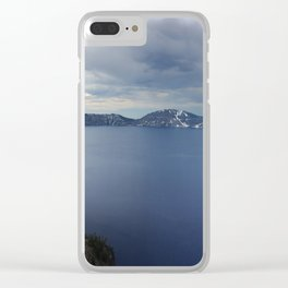 Overlooking Crater Lake Clear iPhone Case