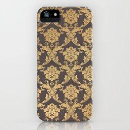 Gold swirls #3 iPhone Case