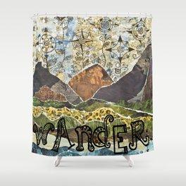 Compass Rose Garden Shower Curtain