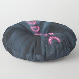 Neon Moon Floor Pillow