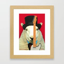 Rock 'n' Roll Sheep with Telecaster Framed Art Print