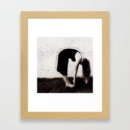 modern girl Framed Art Print