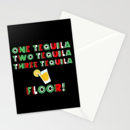 One Tequila, Two Tequila, Three Tequila Floor product Stationery Cards