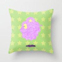 lumpy space princess Throw Pillows featuring Adventure Time - Lumpy Space Princess by LightningJinx