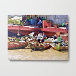 Yangon Harbour Metal Print