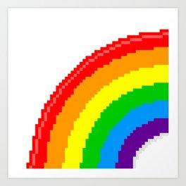 Pixel Rainbow Emoji Art Print