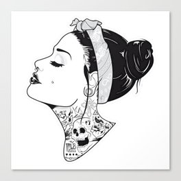 TATTOO--Girl Canvas Print