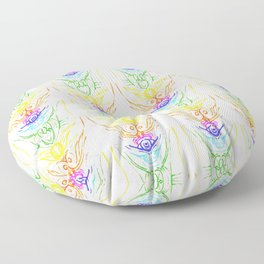 """series """"The chakras"""" pattern upright, vertical Floor Pillow"""