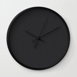 Simulated Black Carbon Fiber Wall Clock