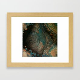 001-fluid art Framed Art Print