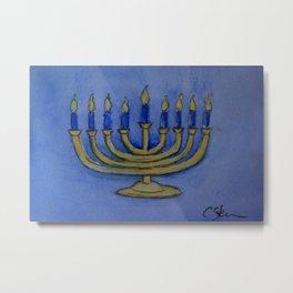 Happy Hanukkah WC161122c Metal Print