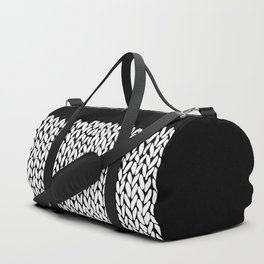 Half Knit  Black Duffle Bag