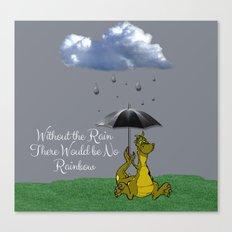 Raining Rainbow Dragon Canvas Print