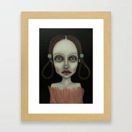 point girl Framed Art Print