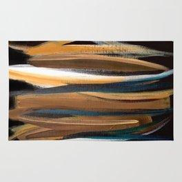 Brush Strokes on a Black Background Rug