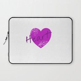 Purple Heart Flower Laptop Sleeve
