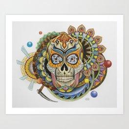 Convergence - Sugar Skull Art Print