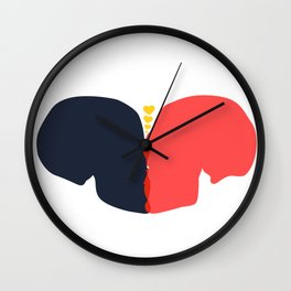 Passion of love Wall Clock